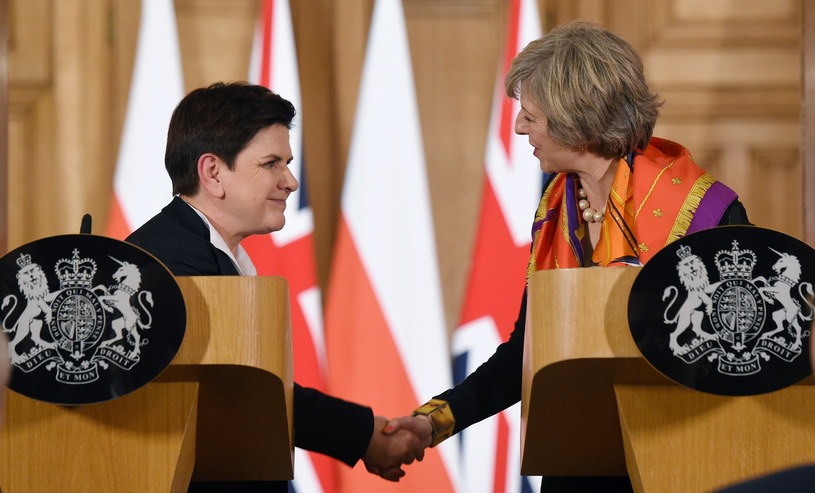 Beata Szydło i Theresa May /Radek Pietruszka /PAP