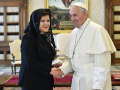 Beata Szydło na audiencji u papieża Franciszka