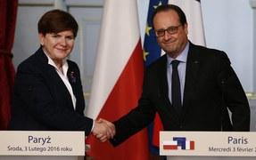 Beata Szydło z wizytą w Paryżu