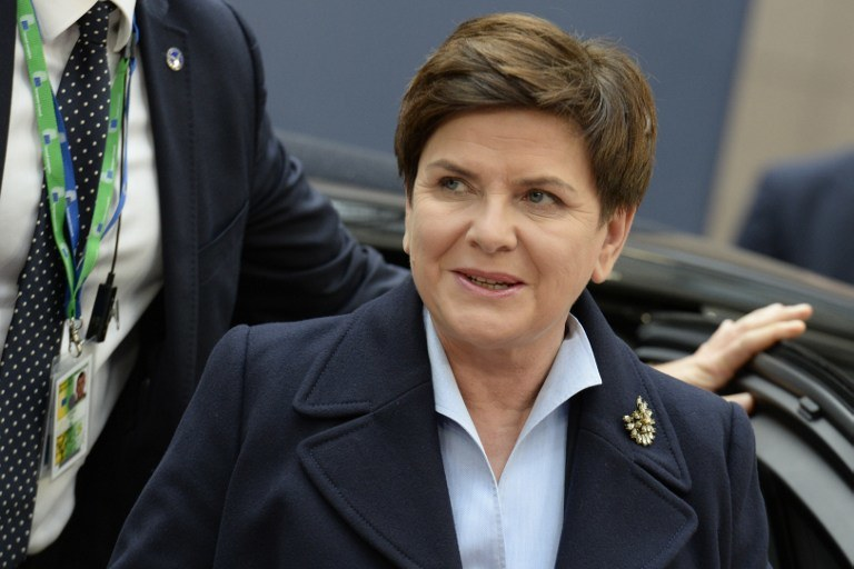 Beata Szydło /AFP