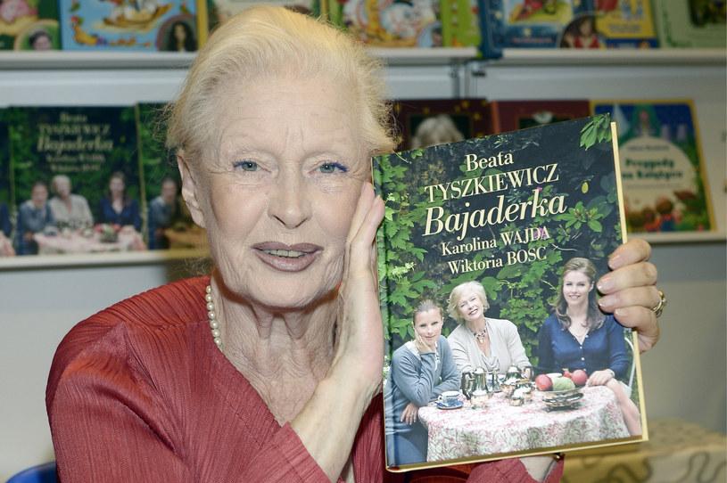 """Beata Tyszkiewicz na promocji książki """"Bajaderka"""" /AKPA"""