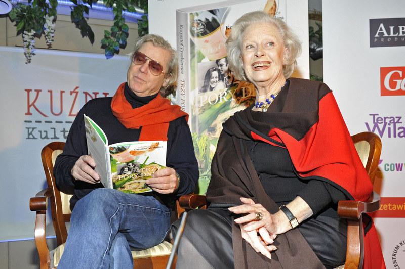 Beata Tyszkiewicz z bratem Krzysztofem /Niemiec /AKPA
