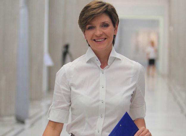 """""""Będziemy chcieli przekonać do tego, by głosowali tak, jak uważamy, że będzie najlepiej dla Polski"""" - powiedziała Joanna Mucha /STANISLAW KOWALCZUK /East News"""