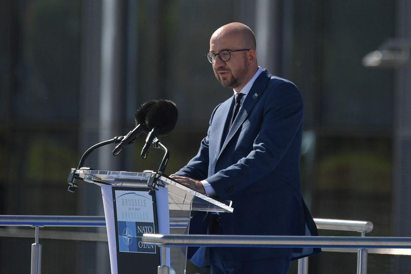 Belgijski premier Charles Michel podczas szczytu NATO w Brukseli /MANDEL NGAN / AFP /AFP