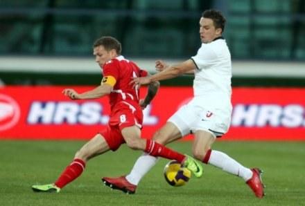 Bellamy (z lewej) zawiódł kibiców Walii w meczu z Polską / fot. Dariusz Hermiesz /Agencja Przegląd Sportowy