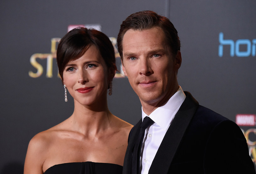 Benedict Cumberbatch z żoną Sophie /Getty Images