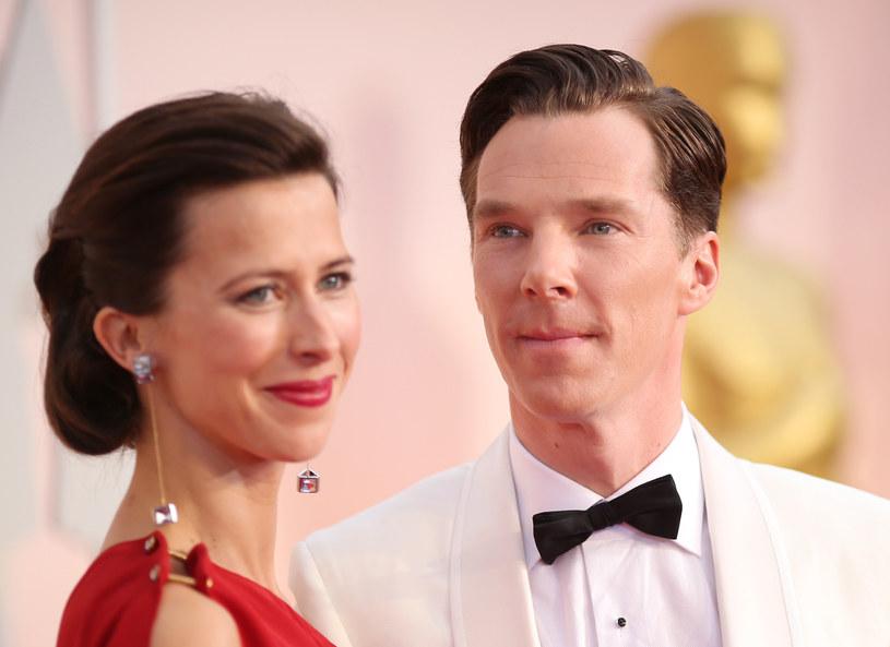 Benedict Cumberbatch z żoną /Getty Images