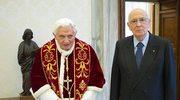 Benedykt XVI pożegnał się z prezydentem Włoch