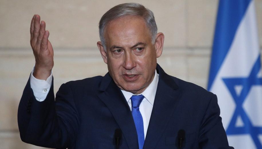 Benjamin Netanjahu /PHILIPPE WOJAZER / POOL /PAP/EPA