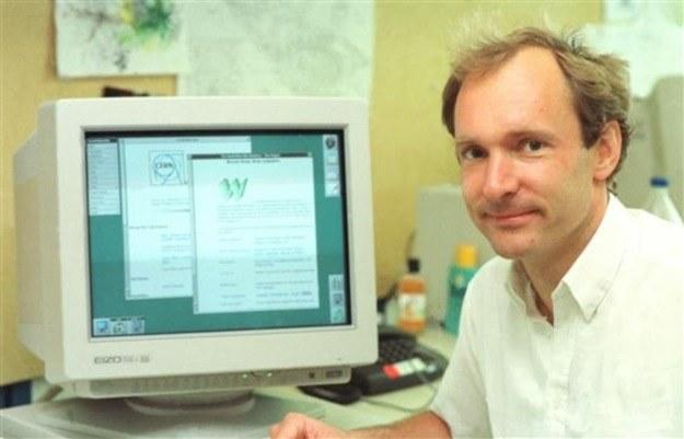 Berners-Lee, twórca pierwszej strony WWW - zdjęcie z 1994 roku /materiały prasowe