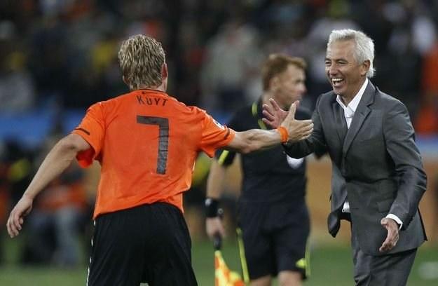 Bert van Marwijk, trener reprezentacji Holandii /AFP