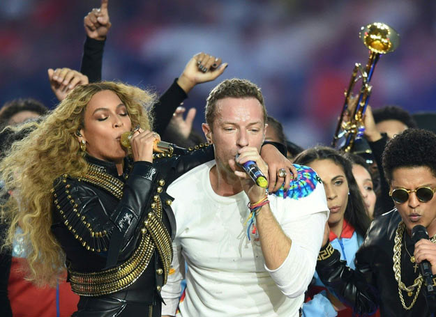 Beyonce i Chris Martin /TIMOTHY A. CLARY /East News