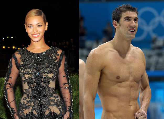 Beyonce Knowles i Michael Phelps /Getty Images