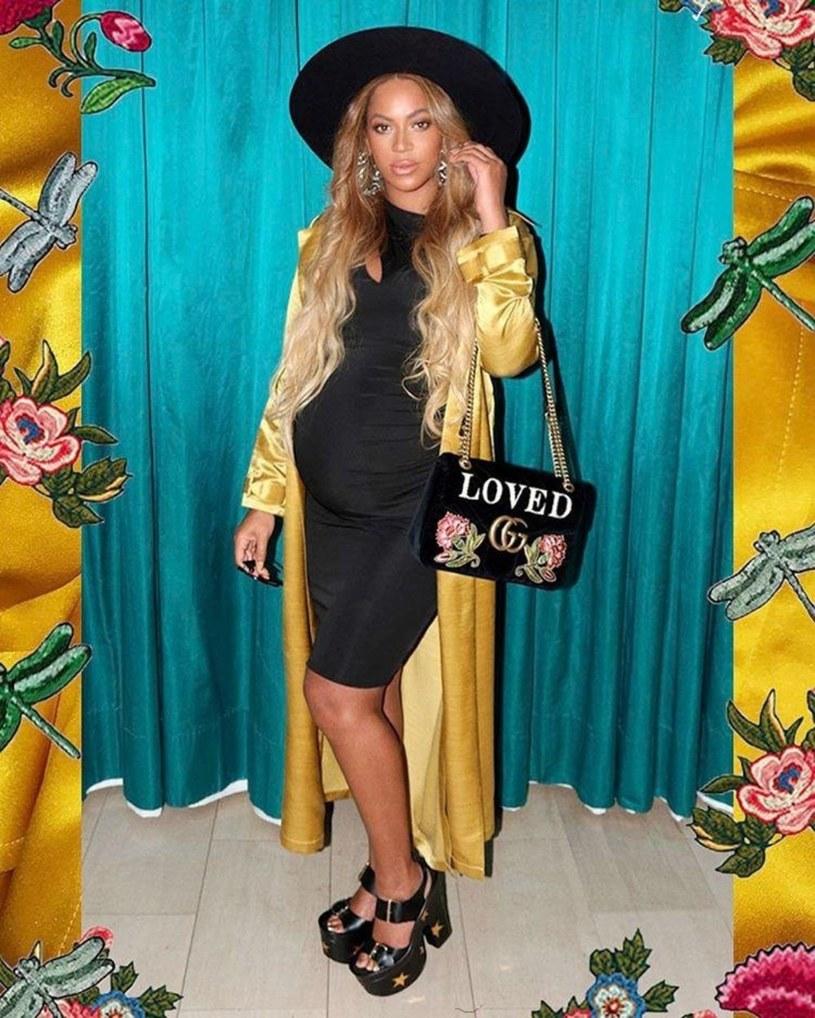 Beyonce w ciążowej sesji zdjęciowej /East News
