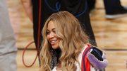 Beyonce z rodziną na meczu