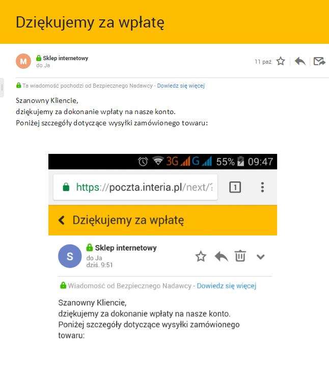 bezpieczny nadawca /INTERIA.PL