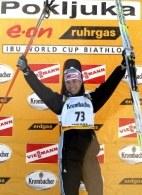 Białorusin Aleksandr Syman wygrał sprint w Pokljuce /AFP