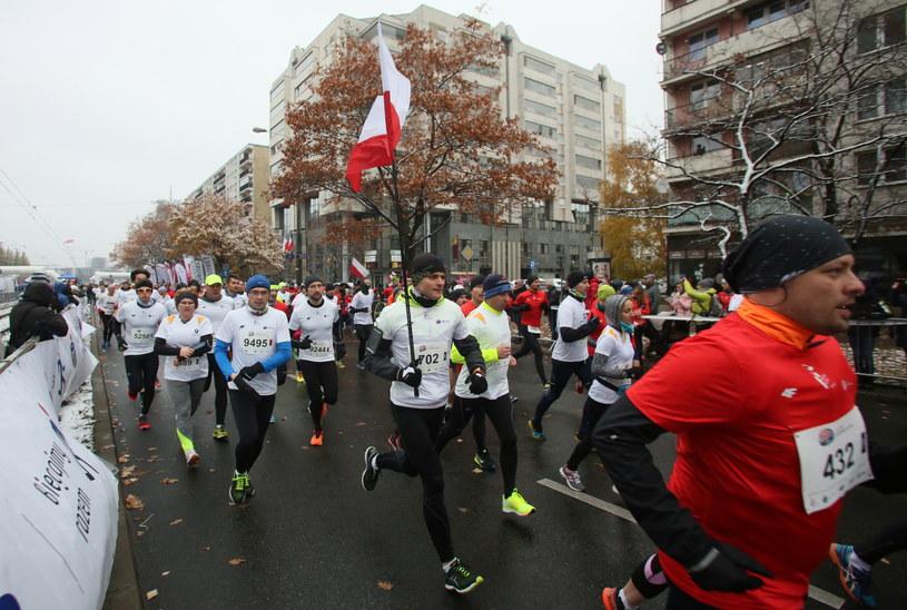 Bieg Niepodległości w Warszawie /Leszek Szymański /PAP
