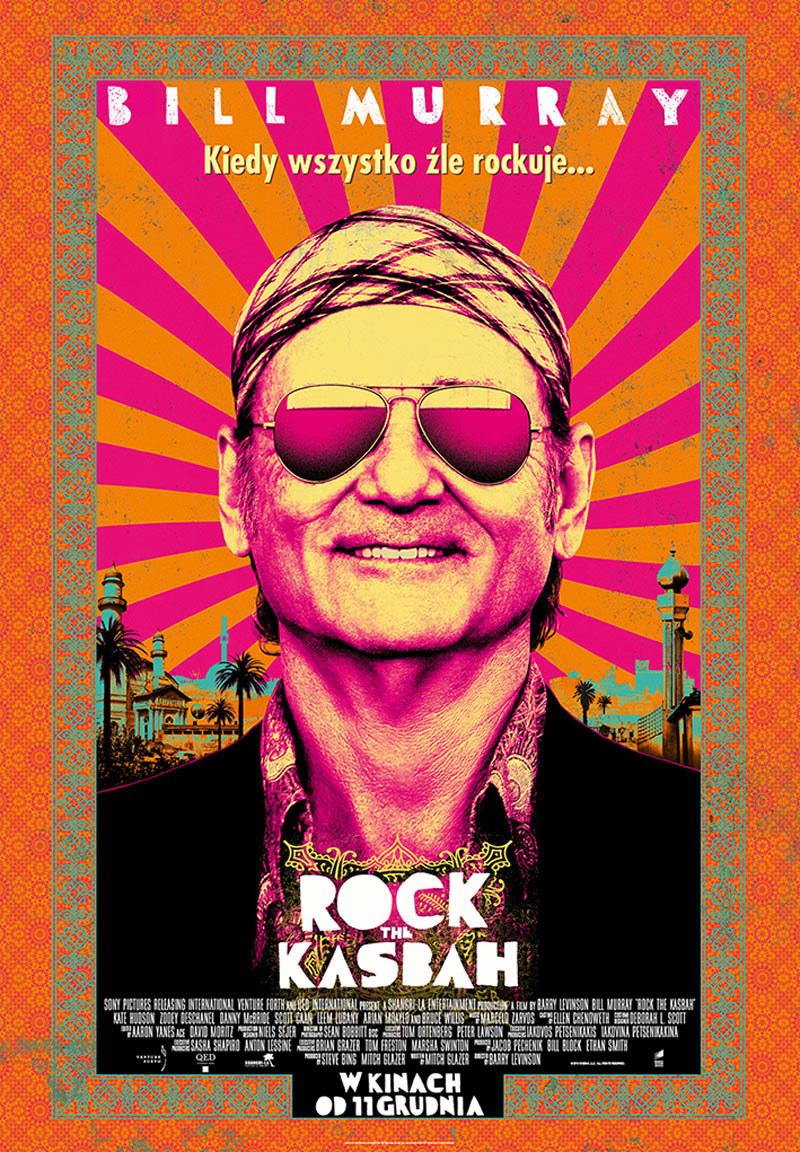 """Bill Murray na plakacie filmu """"Rock the Kasbah"""" /materiały dystrybutora"""