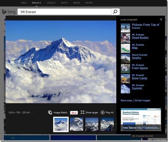 Bing umożliwia teraz wyszukiwanie podobnych obrazów. /materiały prasowe