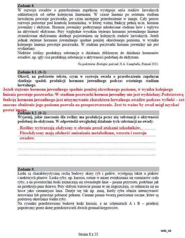 Biologia - poziom rozszerzony, str. 8 /INTERIA.PL