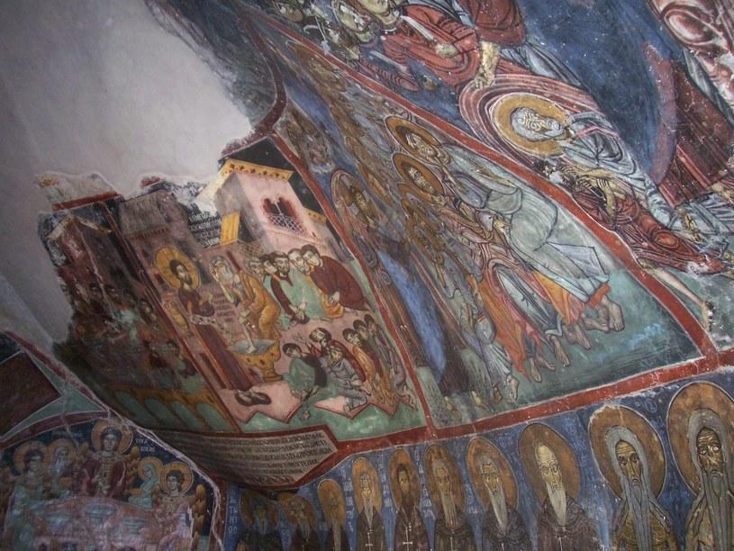 Bizantyjskie malowidła na ścianach Enkleistry  /Ewa Gajewska /Styl.pl