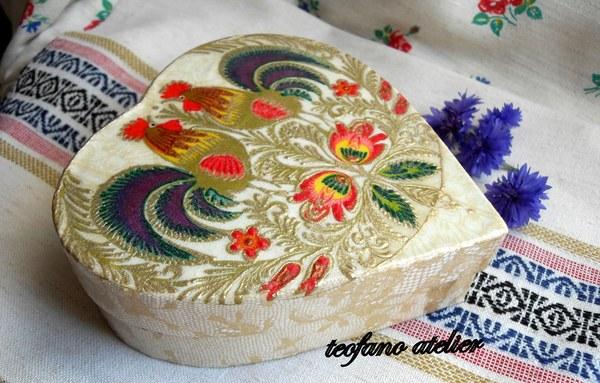 Pudełko na bransoletkę. www.teofano.blogspot.com