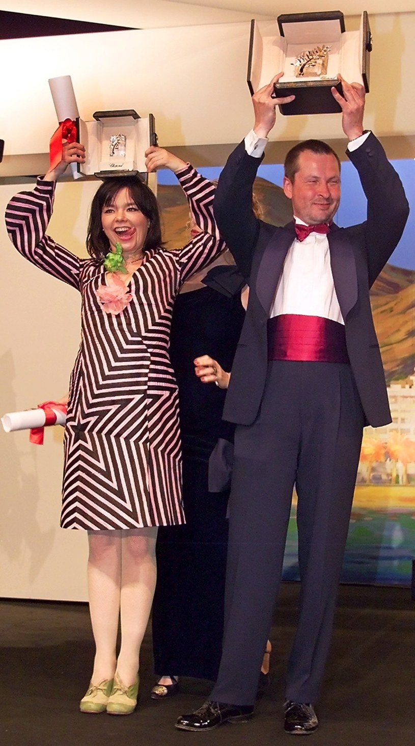 Bjork i Lars Von Trier podczas Festiwalu w Cannes /AFP/Jack Guez /East News
