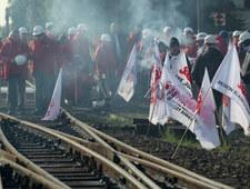 Blokada górników na przejściu granicznym