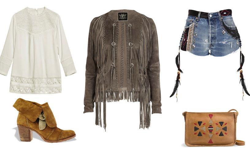 bluzka - H&M | botki - River Island| kurtka i szorty - River Island | torebka - Zara /Twój Styl