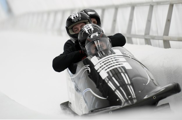 Bobsleje - czwórki mężczyzn w Socz 2014. Zawodnicy z USA /AFP