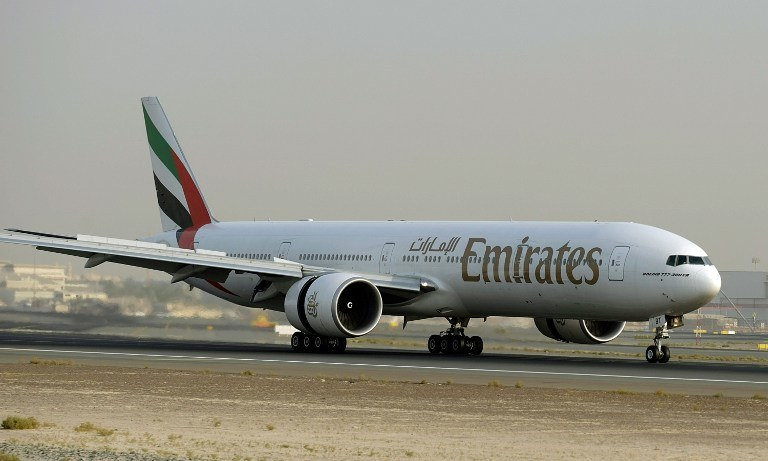 Boeing 777 linii Emirates /AFP