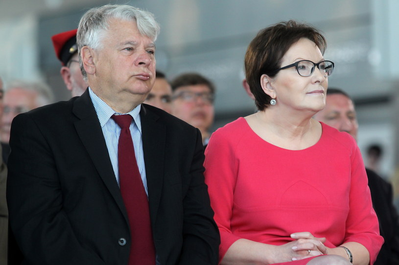 Bogdan Borusewicz i Ewa Kopacz /Piotr Wittman /PAP