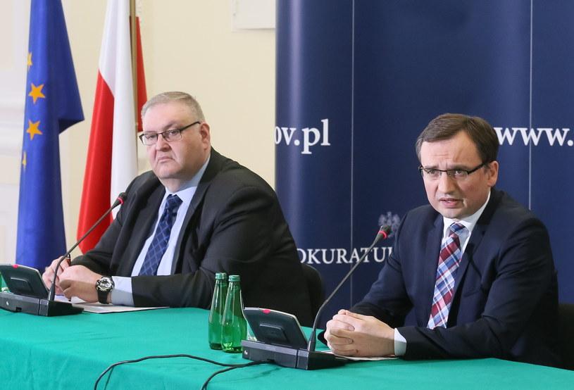 Bogdan Święczkowski i Zbigniew Ziobro /Paweł Supernak /PAP
