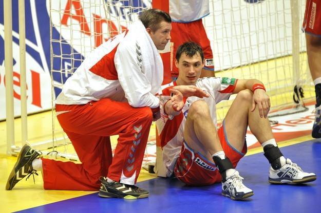 Bogdan Wenta i Krzysztof Lijewski /AFP