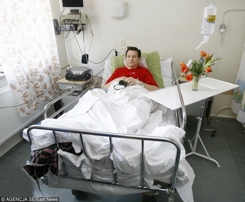 Bogusław Kaczyński w szpitalu /East News