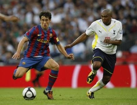 Bojan Krkić (z lewej) zdobył pierwszą bramkę dla Barcelony /AFP