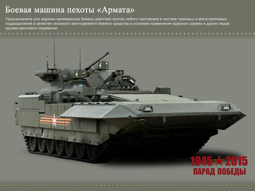 """Bojowy wóz piechoty T-15 zabudowany na podwoziu czołgu T-14 """"Armata"""" – fot. mil.ru /materiały prasowe"""