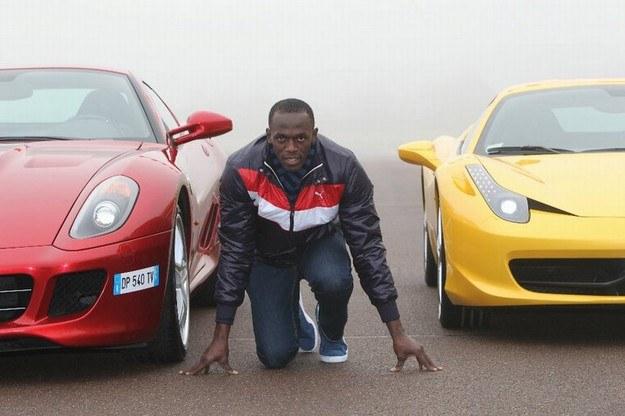 Bolt na torze Ferrari /INTERIA.PL