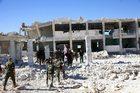 Bomby beczkowe spadły na szpital w Aleppo