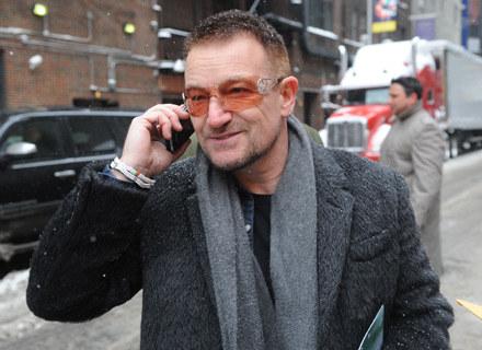 Bono (U2) w drodze do Davida Lettermana - fot. Brad Barket /Getty Images/Flash Press Media