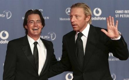 Boris Becker (z prawej) /AFP