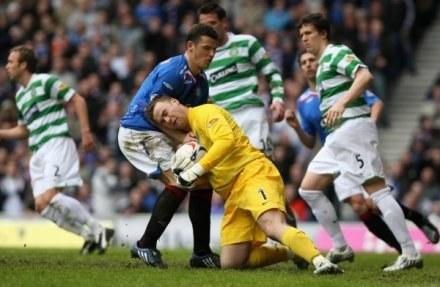 Boruc nie puścił gola w wielkich derbach Glasgow /Getty Images/Flash Press Media