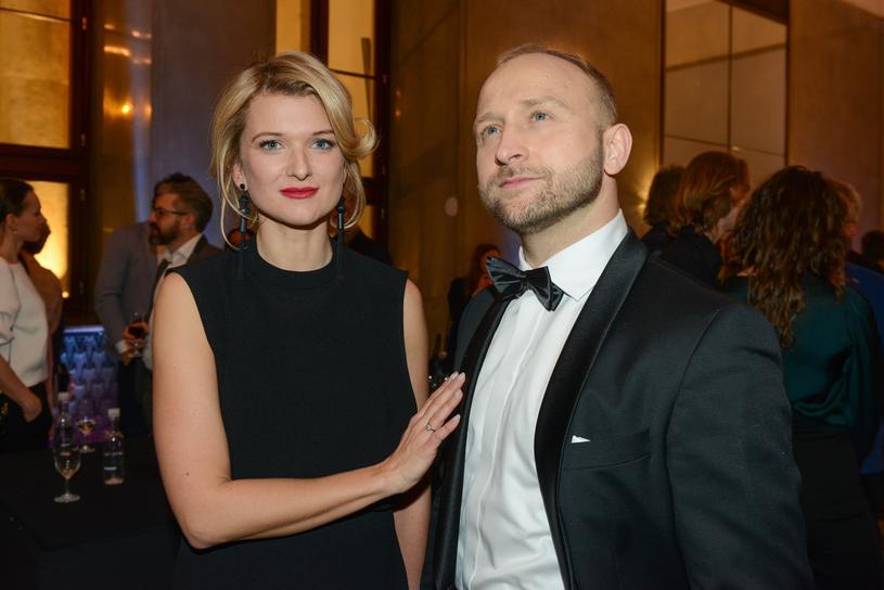 Borys Szyc i Justyna Jeger-Nagłowska /Piotr Fotek/REPORTER /East News