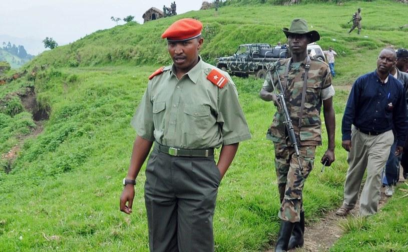 """Bosco """"Terminator"""" Ntaganda (pierwszy od lewej) /AFP"""