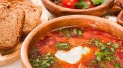 Botwinka z ziemniakami i pomidorami