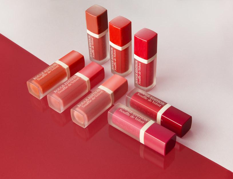 BOURJOIS: Półtransparentne, matowe szminki Souffle de Velvet /materiały prasowe