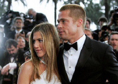 Brad Pitt i Jennifer Aniston /AFP