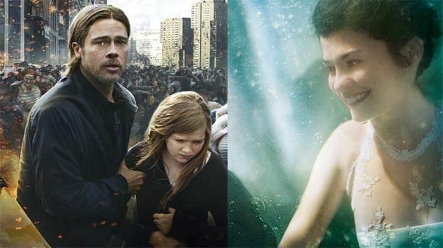 Brad Pitt zajęty jest ratowaniem świata, audrey Tautou oddaje się surrealistycznym szaleństwom /materiały dystrybutora
