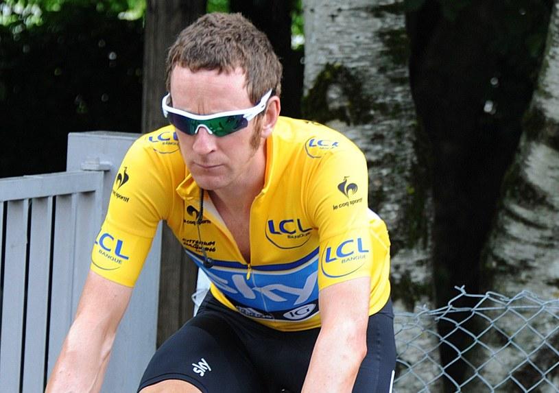 Bradley Wiggins, mimo 4. miejsca w 6. etapie Criterium du Dauphine zachował koszulkę lidera /- /AFP